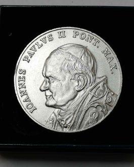 Medale okolicznościowe Jan Paweł II 50 mm posrebrzane