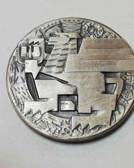 Medal posrebrzany Zasłużonym Ziemi Gdańskiej śr 50 mm